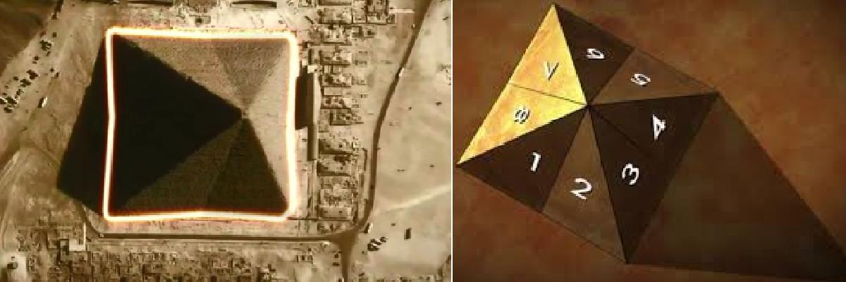 Eight-sided pyramid